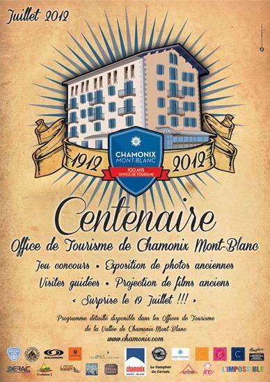 Centenaire office tourisme chamonix 100 ans station chamonix anniversaire chamonix - Chamonix office de tourisme ...