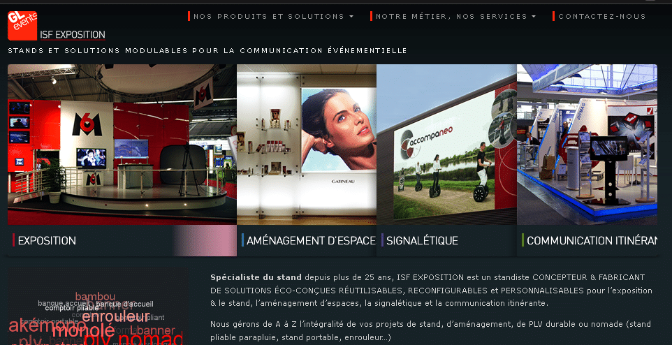 Isf expo stand exposition stand mobile for Concepteur de stand