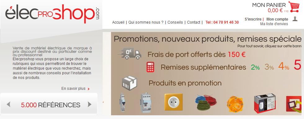Elecproshop vente de mat riels lectriques pour les for Maison primareve