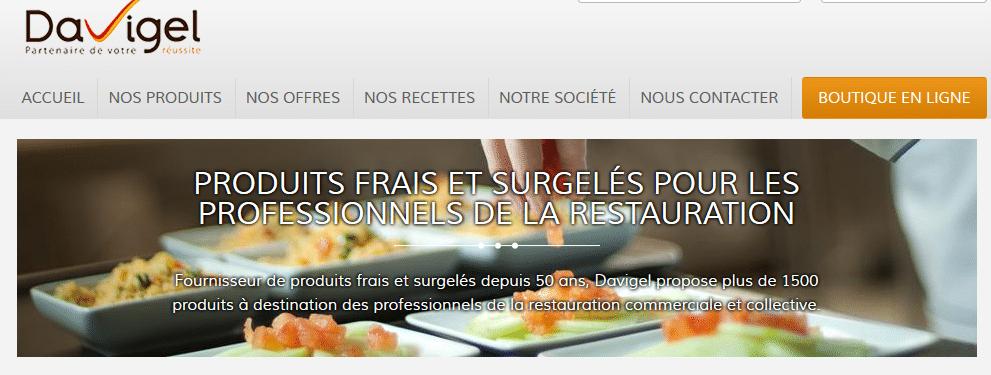 Davigel fournisseur alimentaire pour les professionnels for Fournisseur professionnel restauration