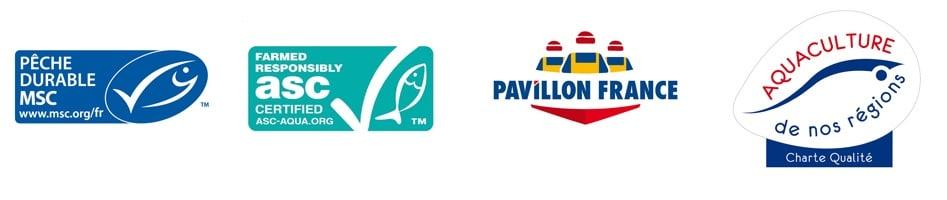 Logo des gammes certifiées et labellisées du fournisseur de poisson frais TerreAzur