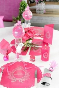 set table just married