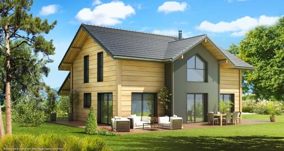 maison bois réalisée par Arttis