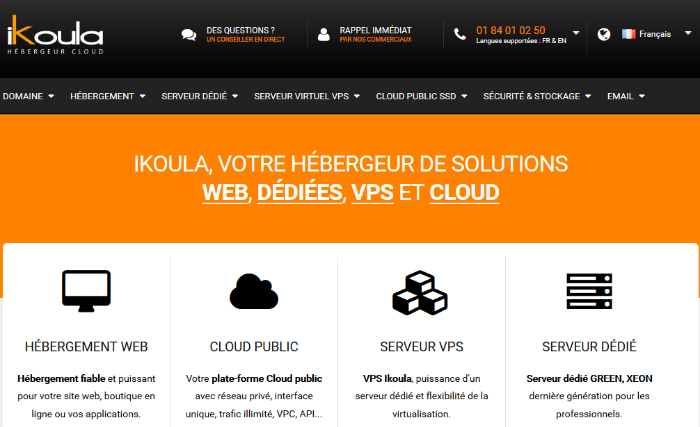 Focus sur les solutions d'hébergement web proposées par Ikoula.