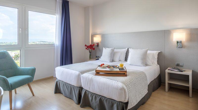 Chambre de l'Hotel 4* Augusta Vallés proche de Barceline