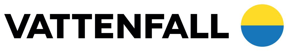 Logo bleu, noir et jaune du fournisseur d'électricité Vattenfal